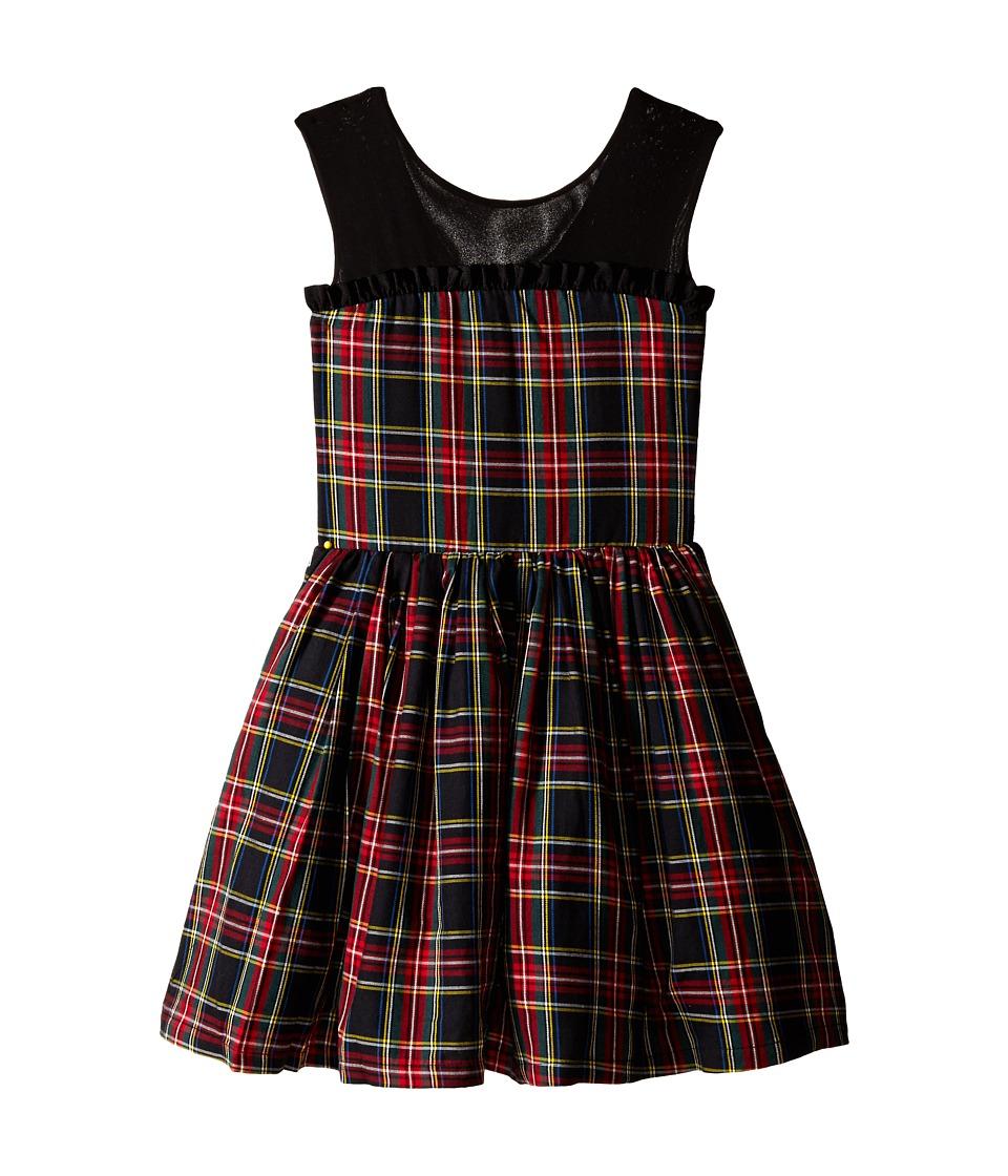 fiveloaves twofish - Winter Tartan Party Dress (Little Kids/Big Kids) (Black) Girl's Dress