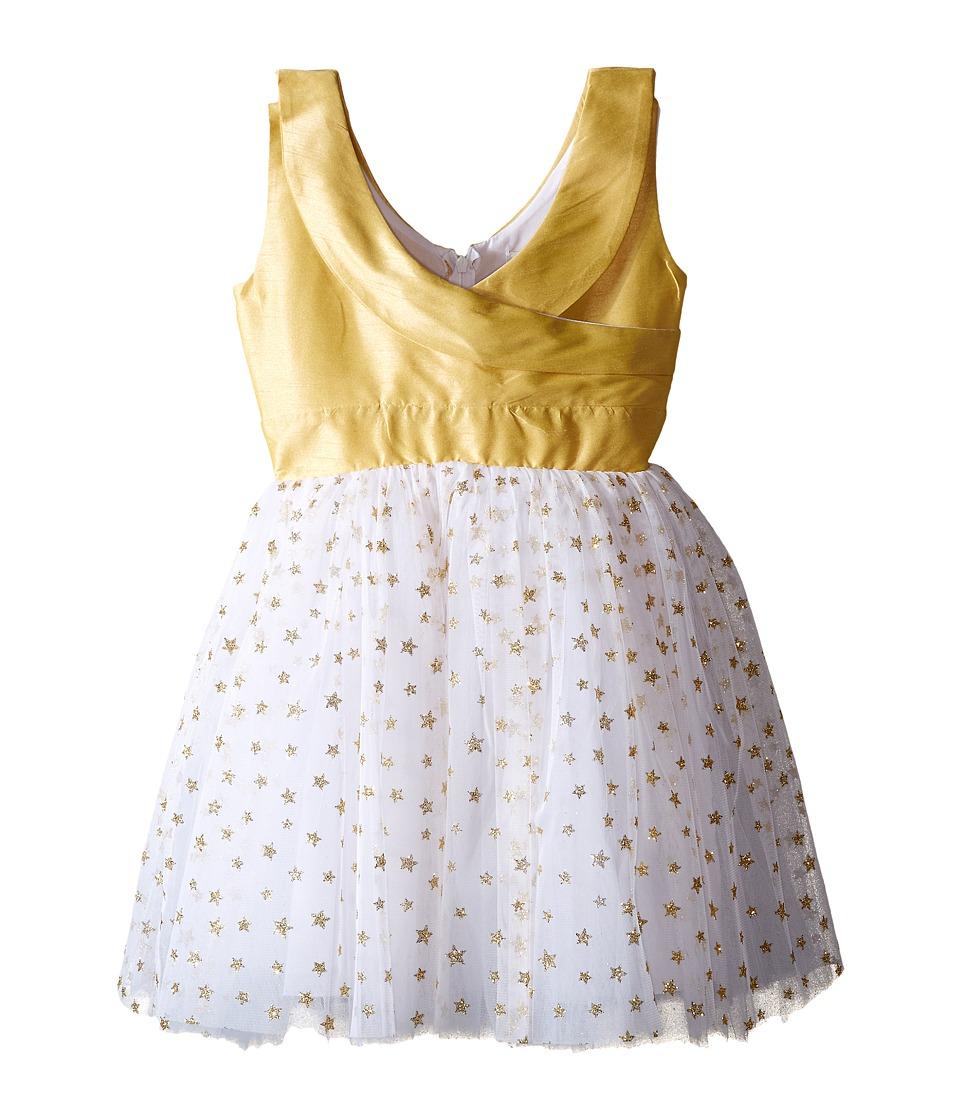 fiveloaves twofish - Sparkling Stars Party Dress (Big Kids) (Gold) Girl's Dress