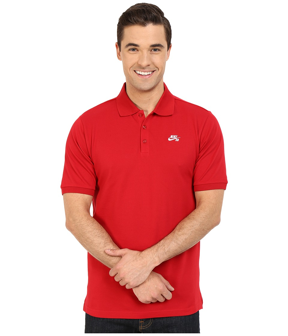 Nike SB - SB Dri-FIT Pique Polo (Gym Red/White) Men's Clothing