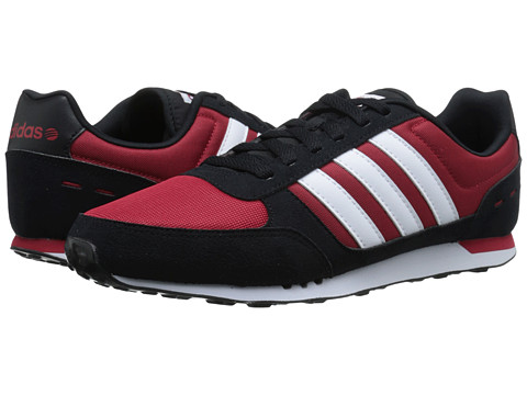 adidas - Neo City Racer (Power Red/White/Black) Men's Shoes