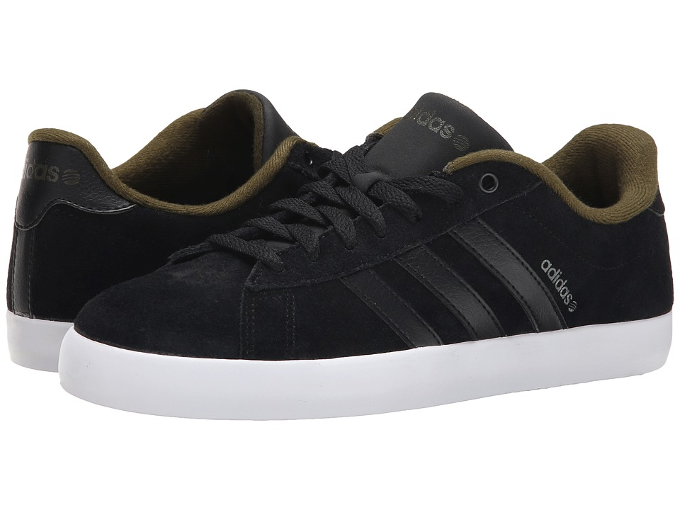 adidas - Derby St (Black/Black/Green) Men's Shoes