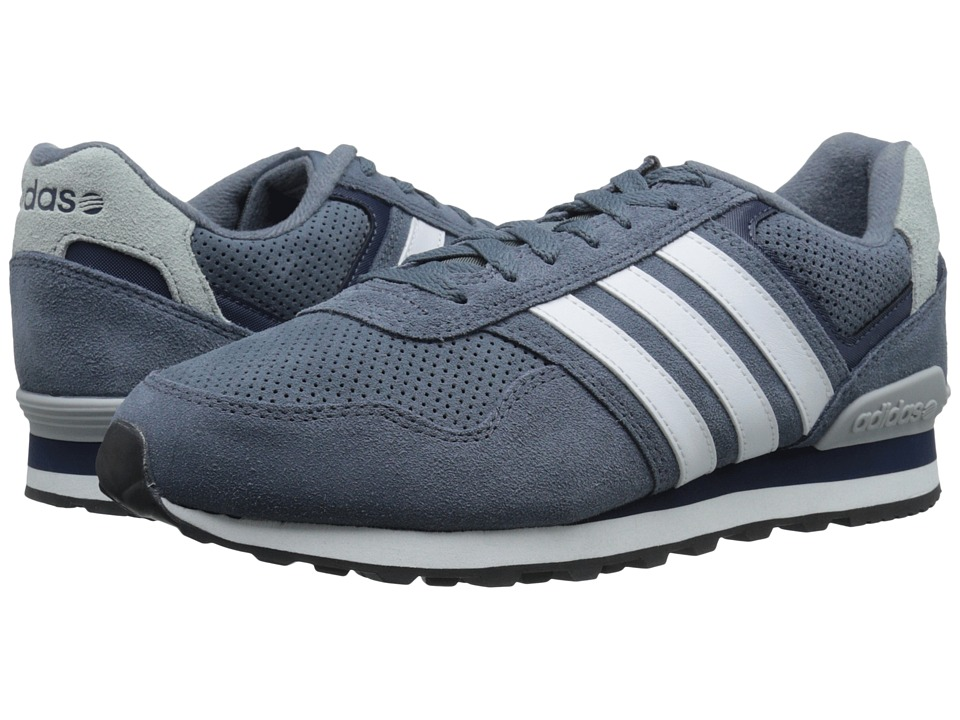 adidas - Runeo 10K (Lead/White/Navy) Men