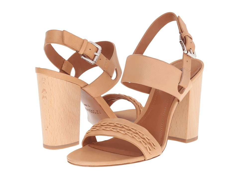 10 Crosby Derek Lam - Mandy (Natural Vacchetta) Women's Sandals