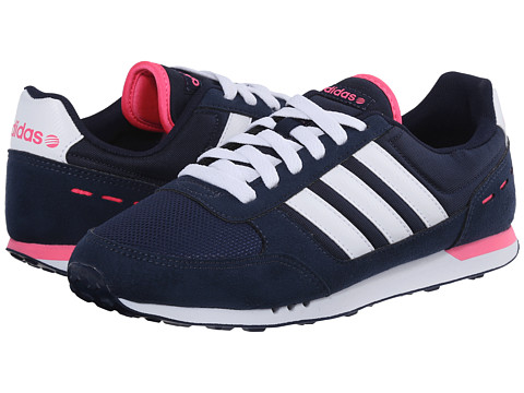 adidas - City Racer (Navy/White/Solar Pink) Women's Shoes
