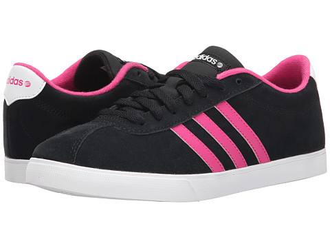 adidas - Courtset (Black/Pink/White) Women's Lace up casual Shoes