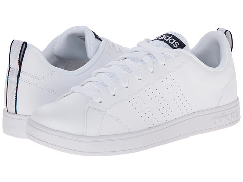 adidas - Advantage Clean VS (White/White/Navy) Women's Shoes