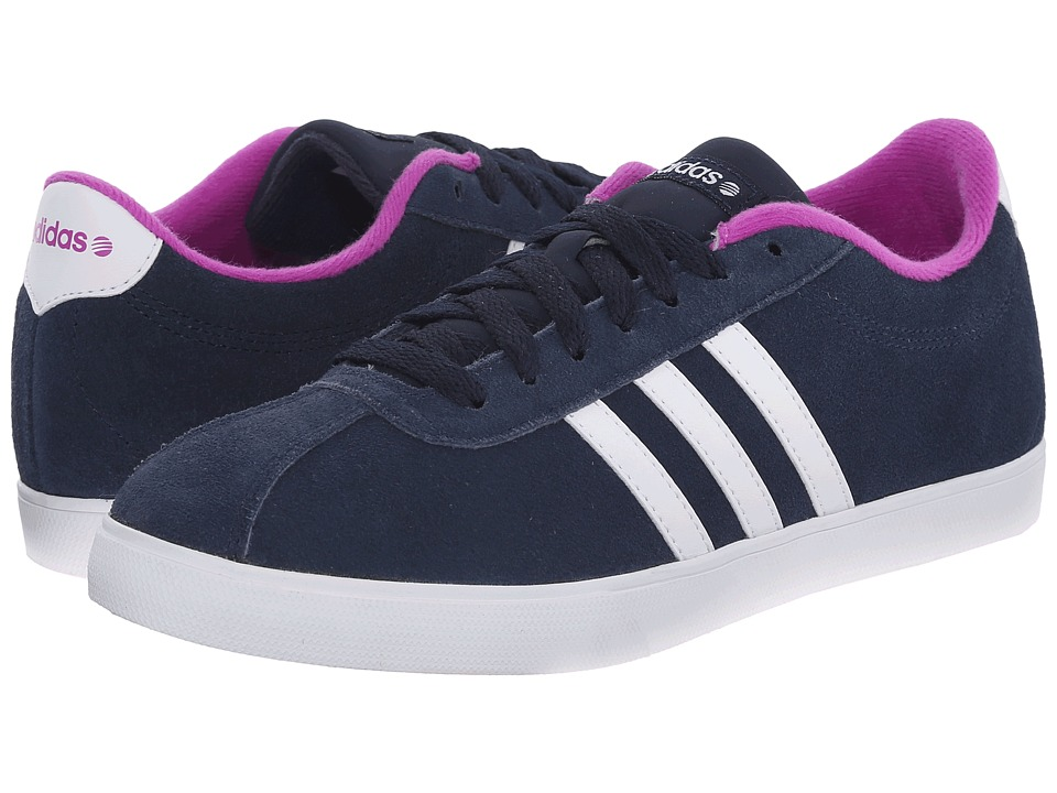 adidas - Courtset (Navy/White/Flash Pink) Women's Lace up casual Shoes
