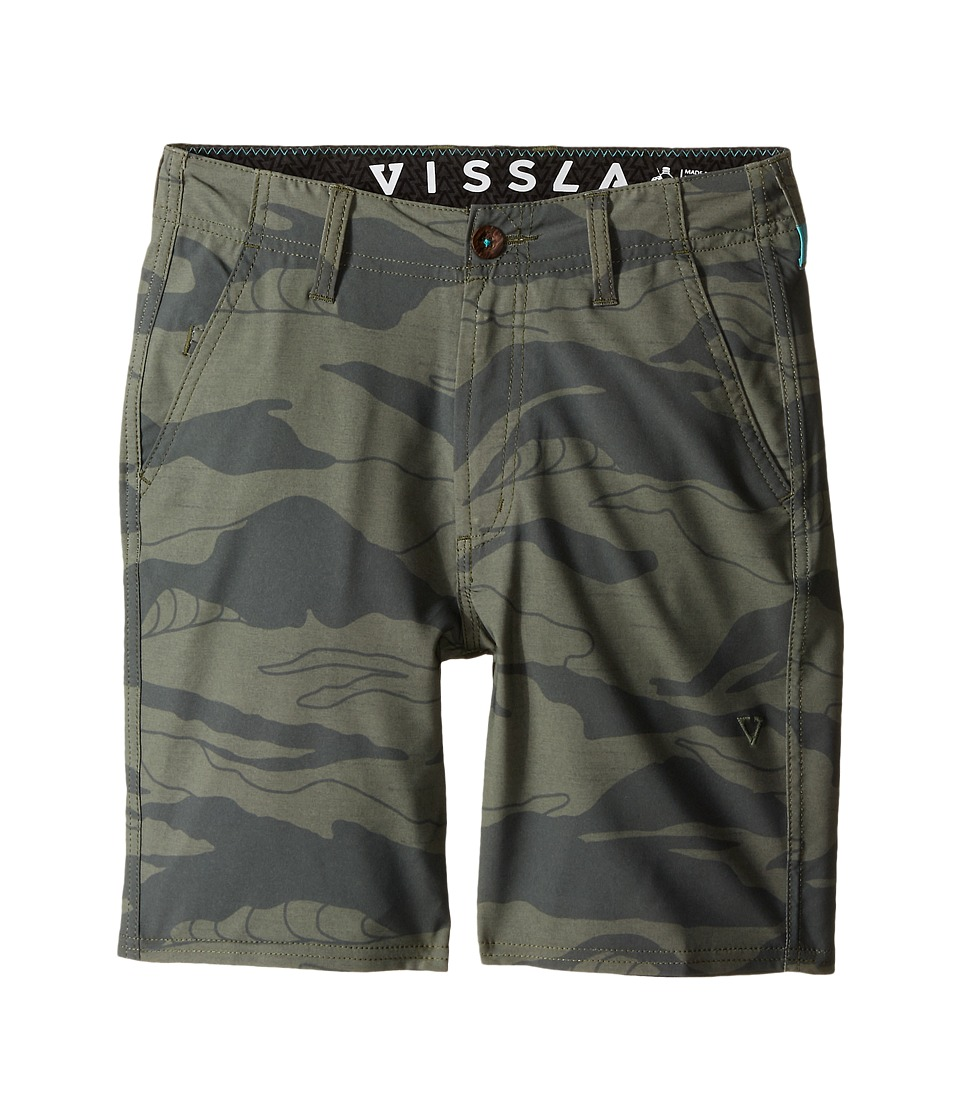 VISSLA Kids - Setz Camo 4-Way Stretch Walkshorts 17 (Big Kids) (Camo) Boy's Shorts