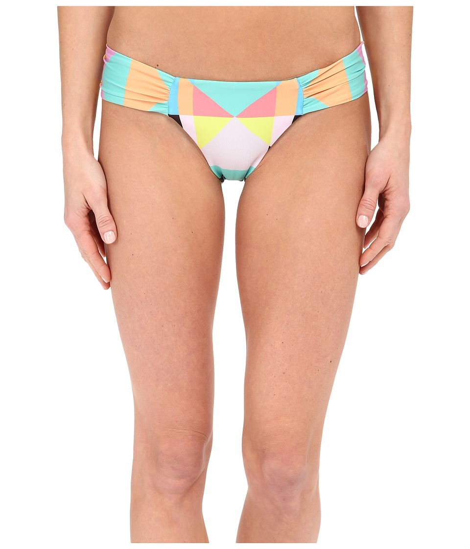 Mara Hoffman Diamond Side Ruched Bottom Aqua Womens Swimwear