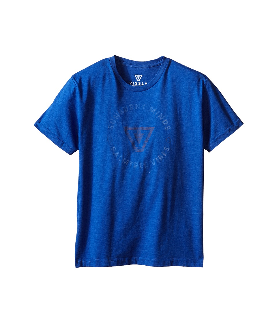 VISSLA Kids - Full Circle T-Shirt (Big Kids) (Royal Wash Heather) Boy's T Shirt