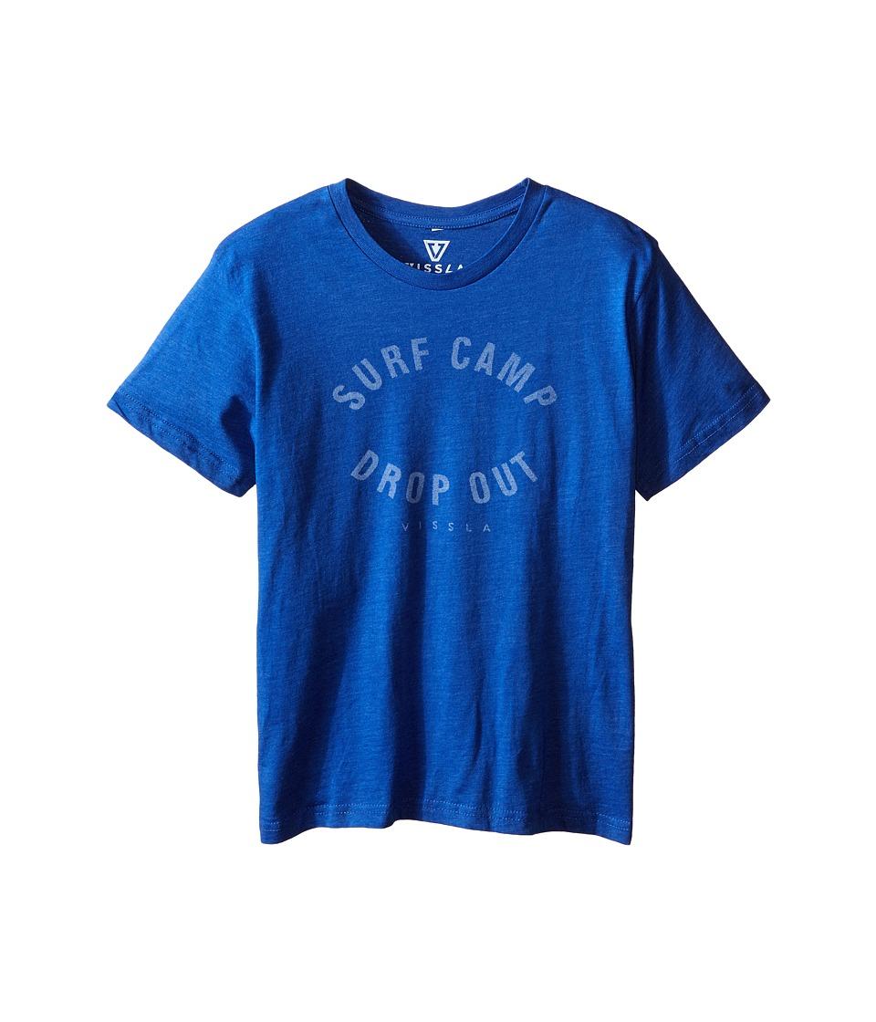 VISSLA Kids - Quotes - Surf T-Shirt (Big Kids) (Royal Wash Heather) Boy's T Shirt