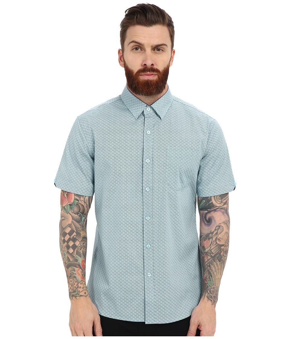 7 Diamonds Stardust Short Sleeve Shirt (Mint) Men