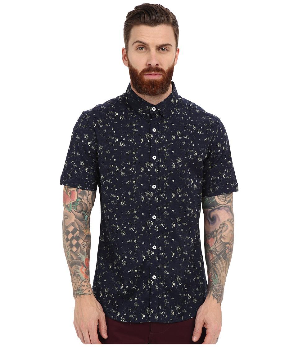 7 Diamonds Ride Out Short Sleeve Shirt (Navy) Men