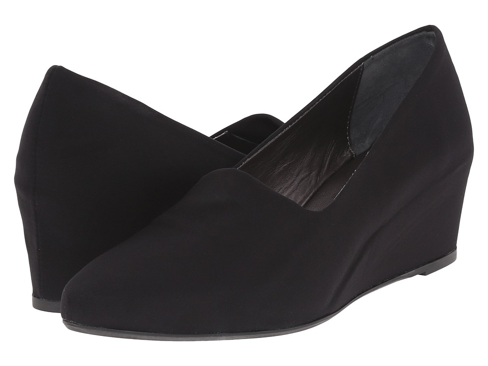 Aquatalia - Penny (Black Stretch Microfiber) Women's Wedge Shoes