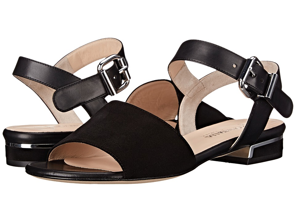 Aquatalia - Alice (Black Suede Combo) Women's Sandals