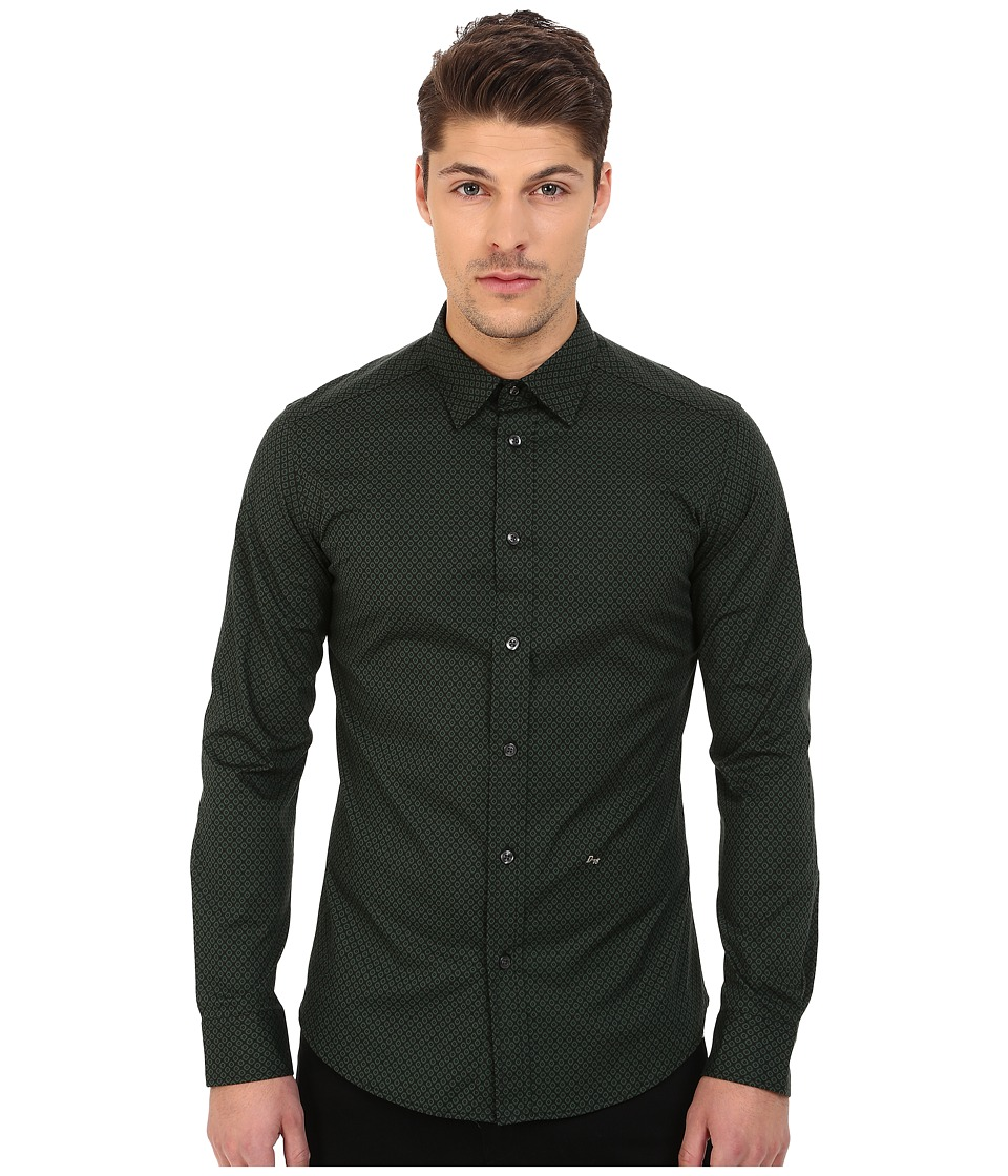 Diesel - S-Leppard Shirt (Green) Men's Long Sleeve Button Up