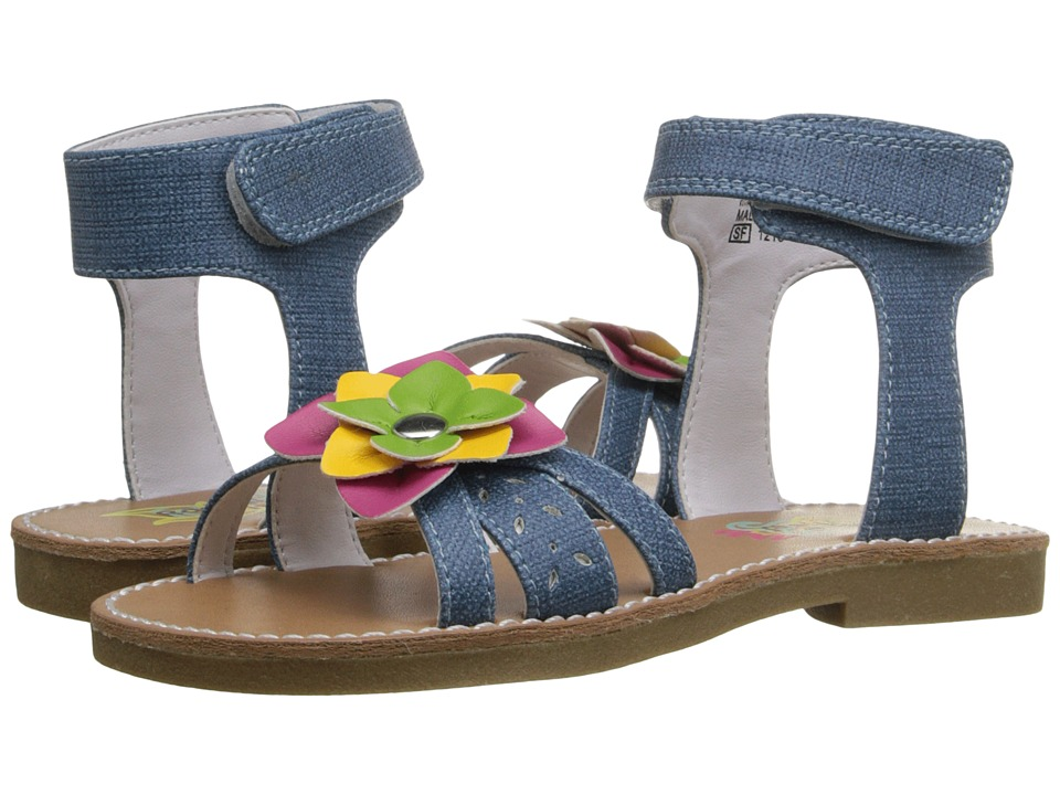 Rachel Kids - Tulip (Toddler/Little Kid) (Denim/Multi) Girls Shoes