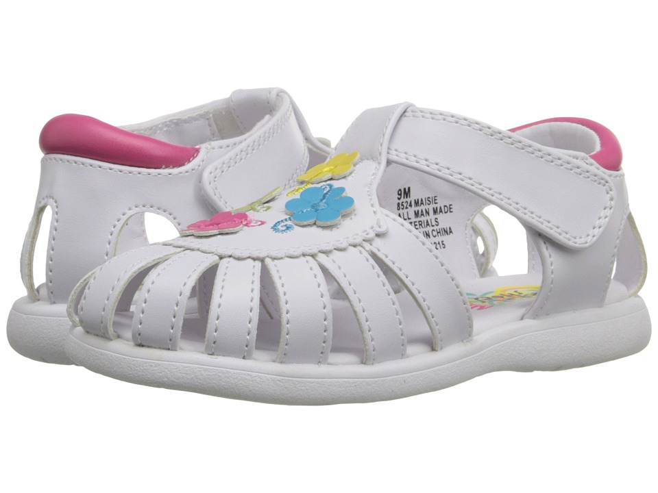 Rachel Kids - Maisie (Toddler) (White/Multi) Girls Shoes