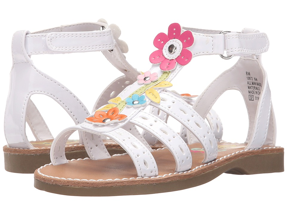 Rachel Kids - Nia (Toddler/Little Kid) (White/Multi) Girls Shoes