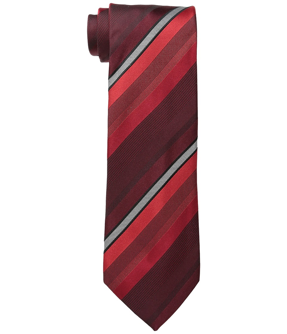Kenneth Cole Reaction - Main Stripe (Burgundy) Ties