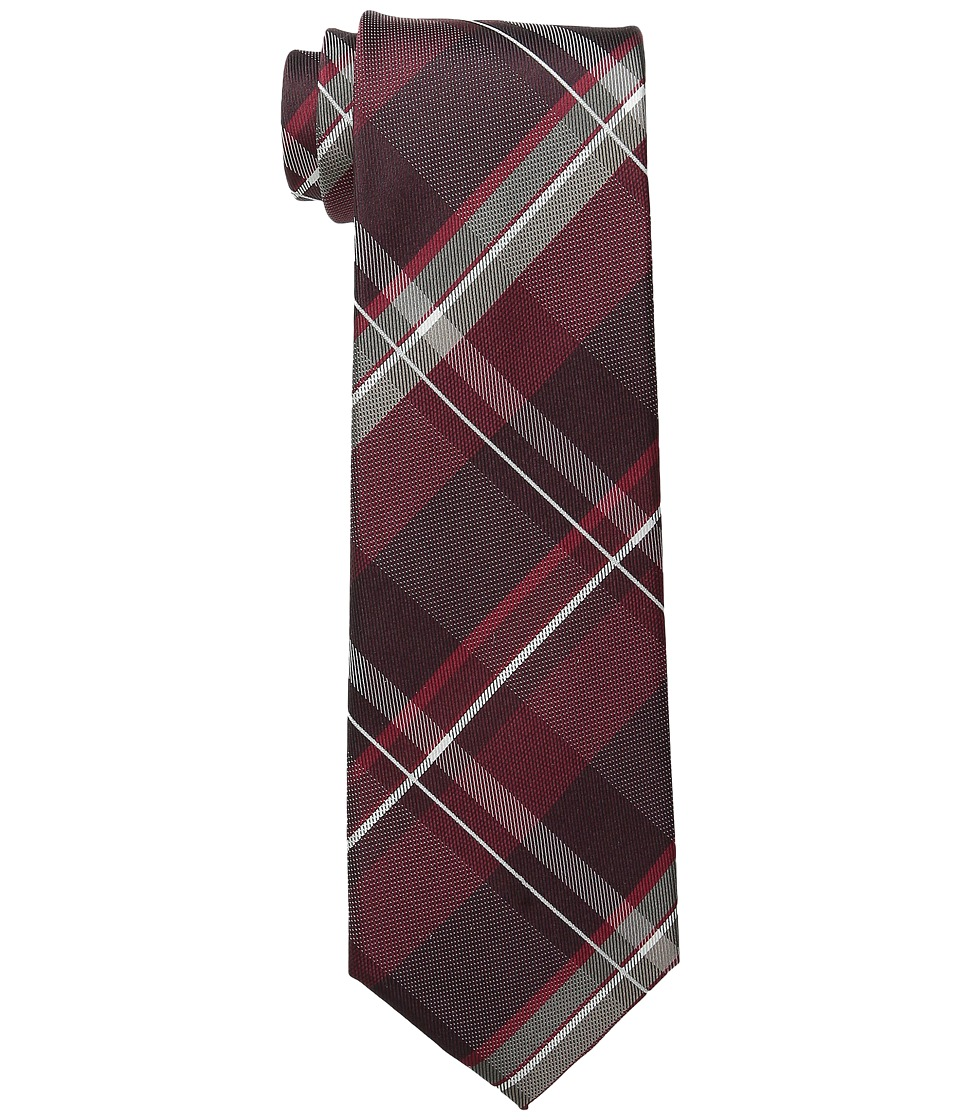 Kenneth Cole Reaction - Tenafly Plaid (Burgundy) Ties