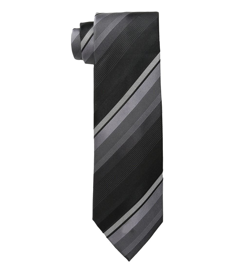 Kenneth Cole Reaction - Main Stripe (Black) Ties