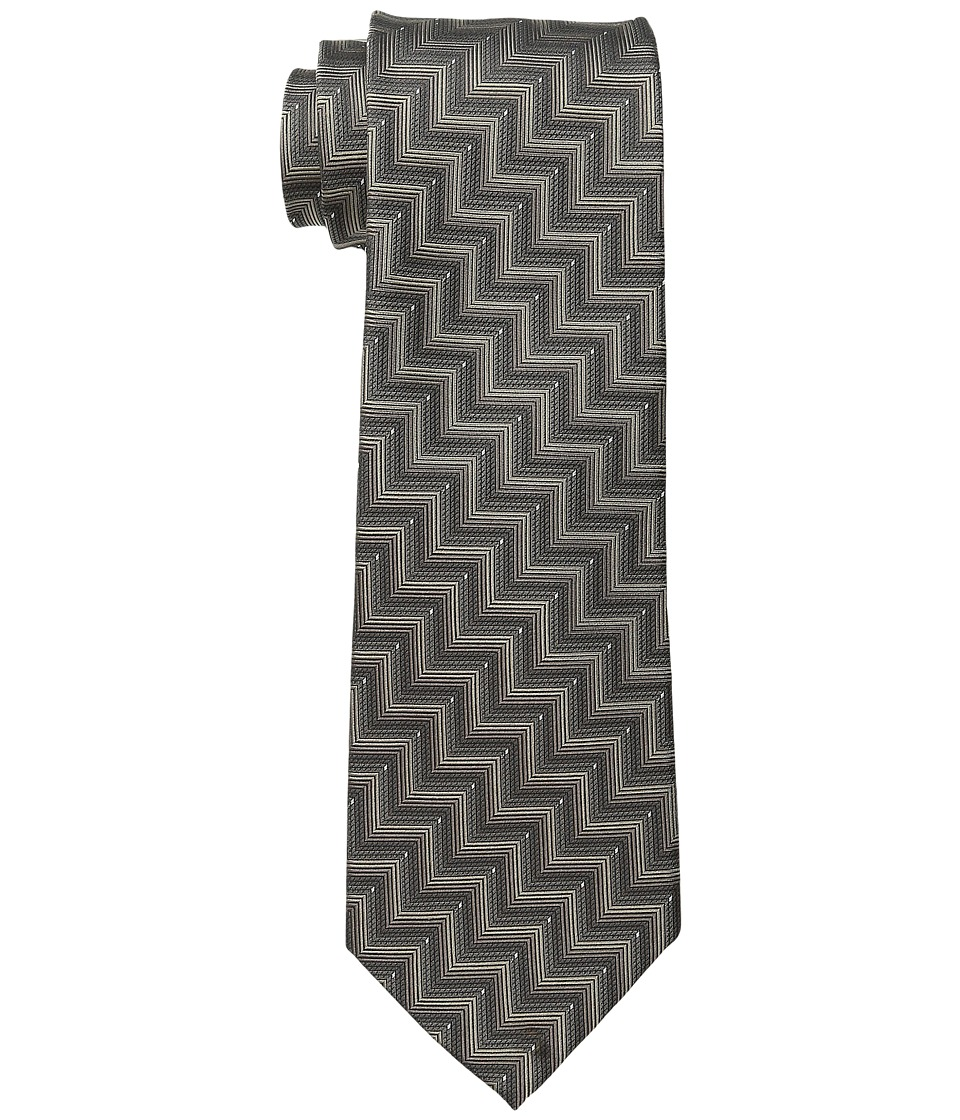 Kenneth Cole Reaction - Zigzag Texture (Taupe) Ties
