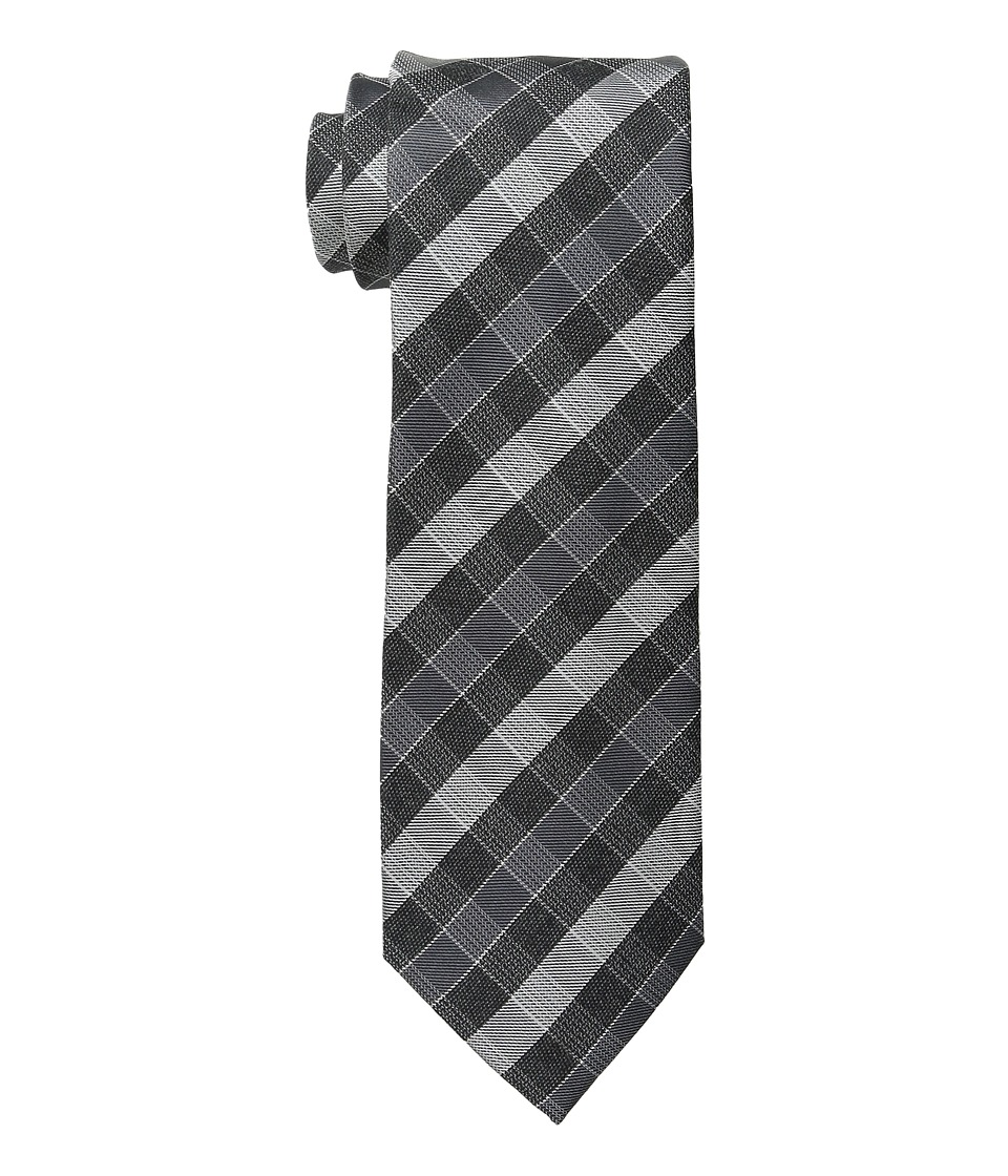 Kenneth Cole Reaction - Even Plaid (Black) Ties