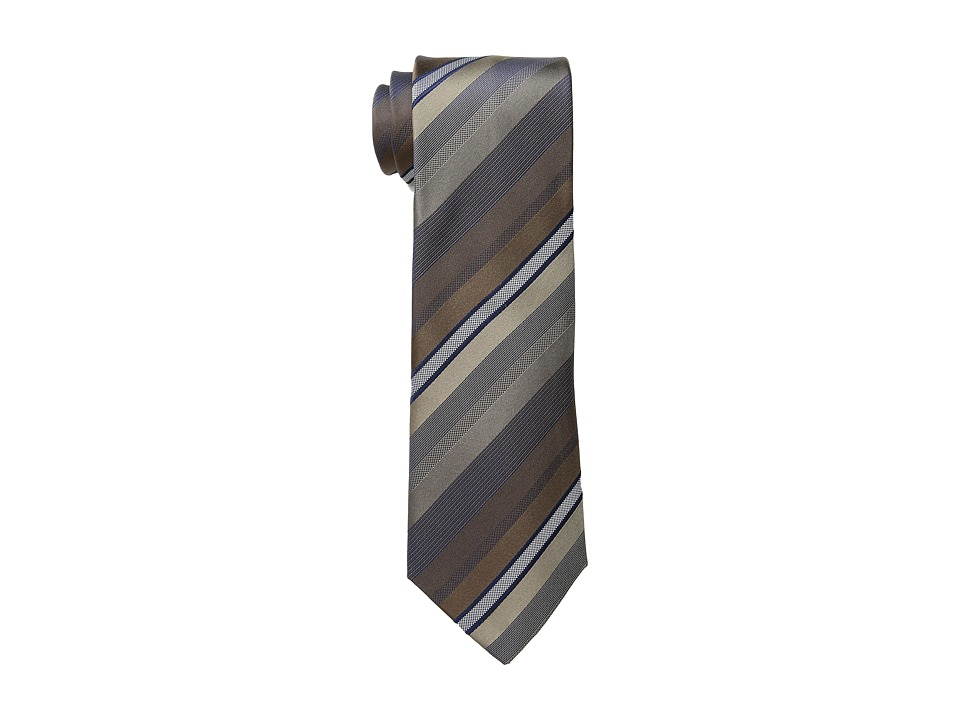 Kenneth Cole Reaction - Main Stripe (Taupe) Ties