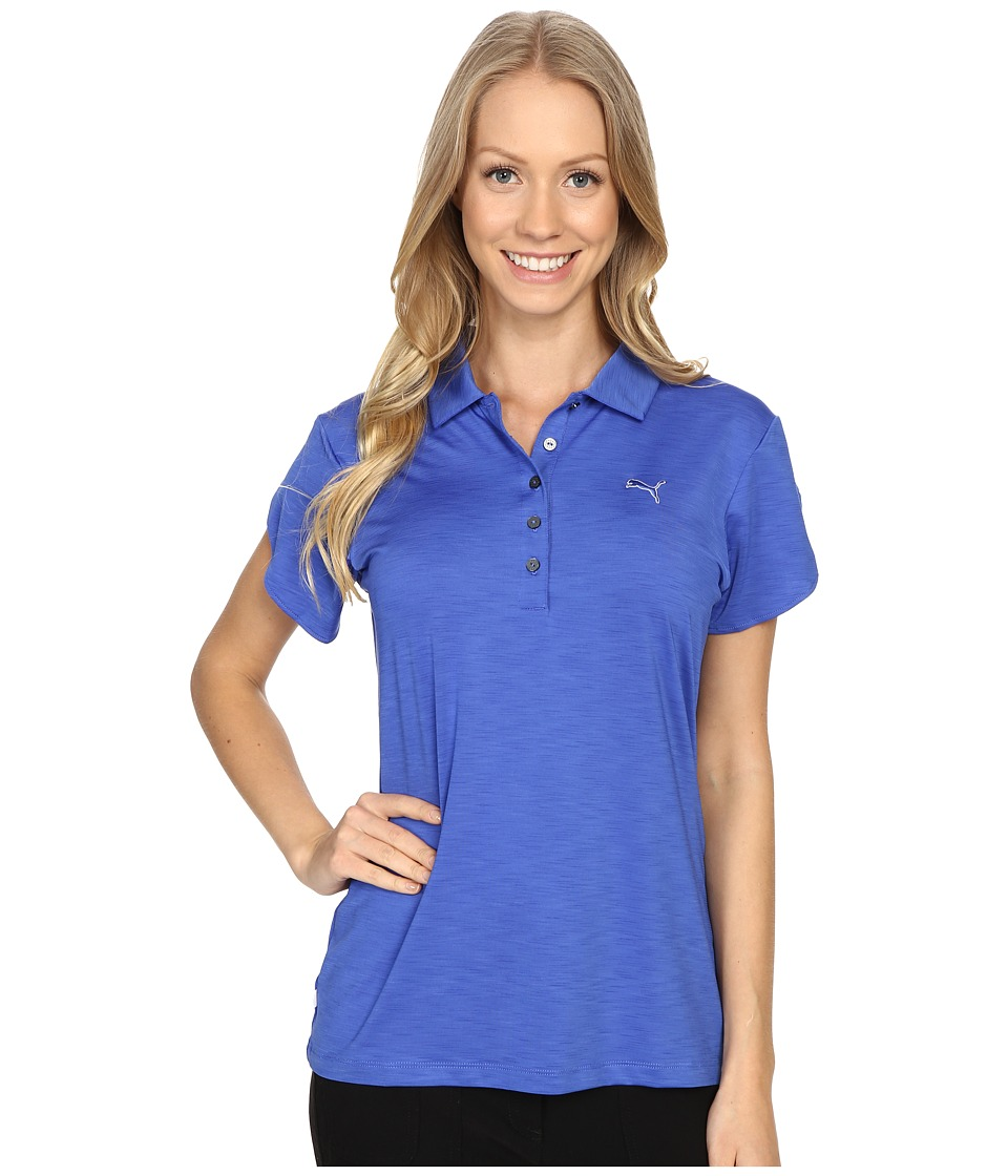 PUMA Golf - Petal Polo (Dazzling Blue) Women's Clothing