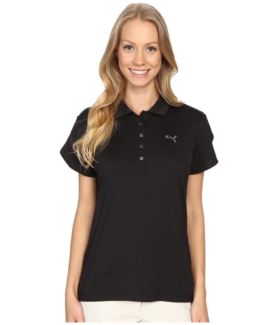 PUMA Golf - Petal Polo (Black) Women's Clothing