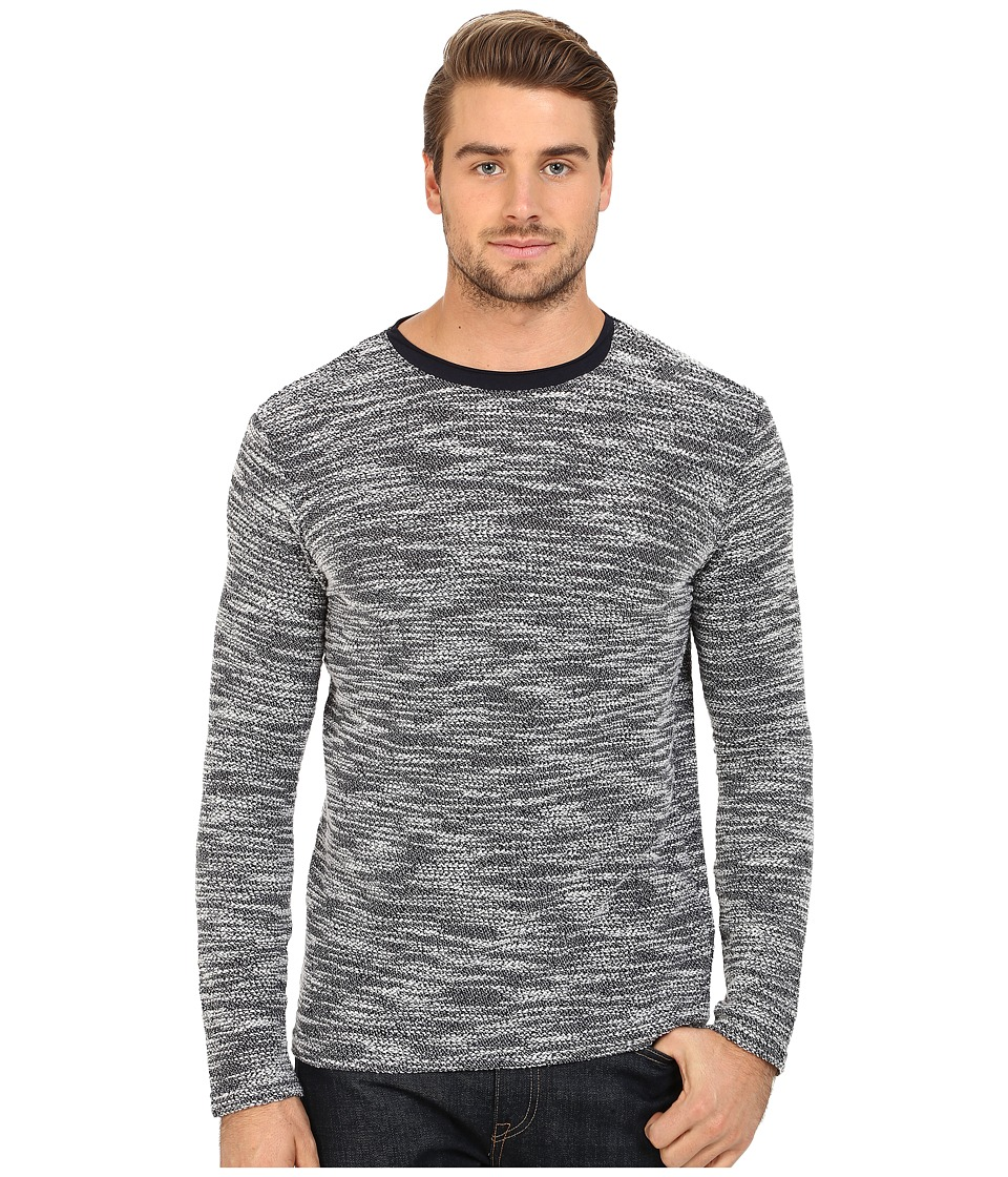 7 Diamonds - Burgos Long Sleeve Shirt (Navy) Men's Sweater