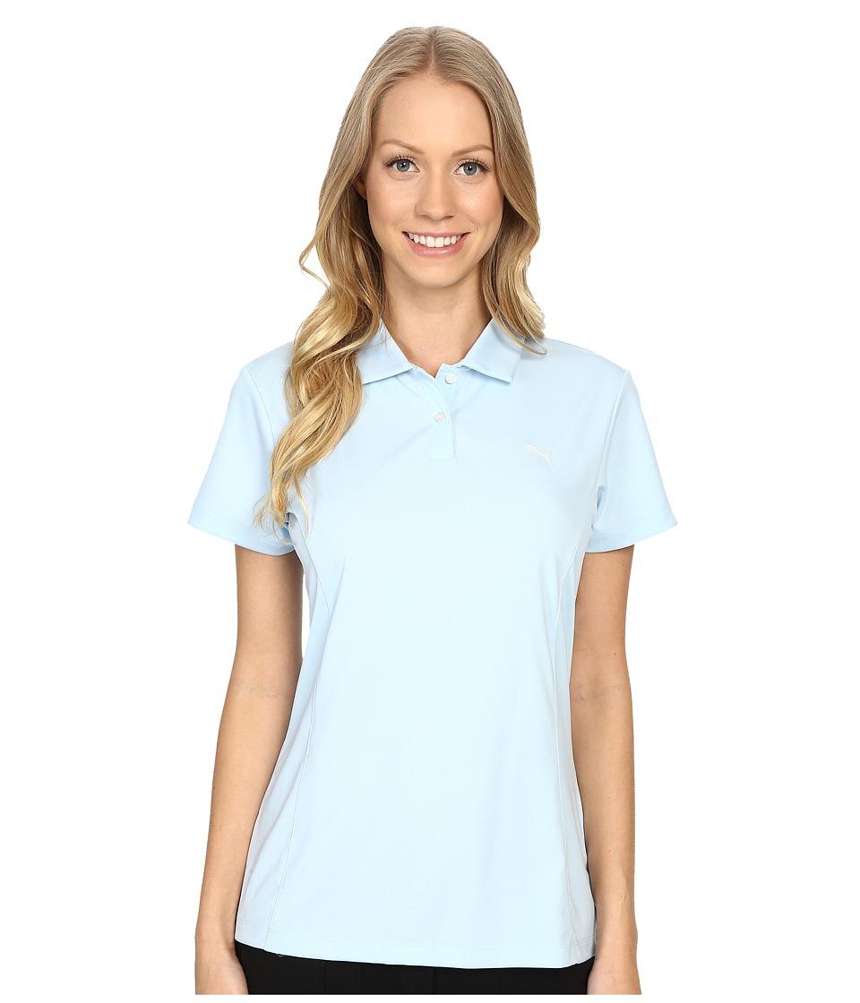 PUMA Golf - Pounce Polo (Cool Blue) Women's Short Sleeve Pullover