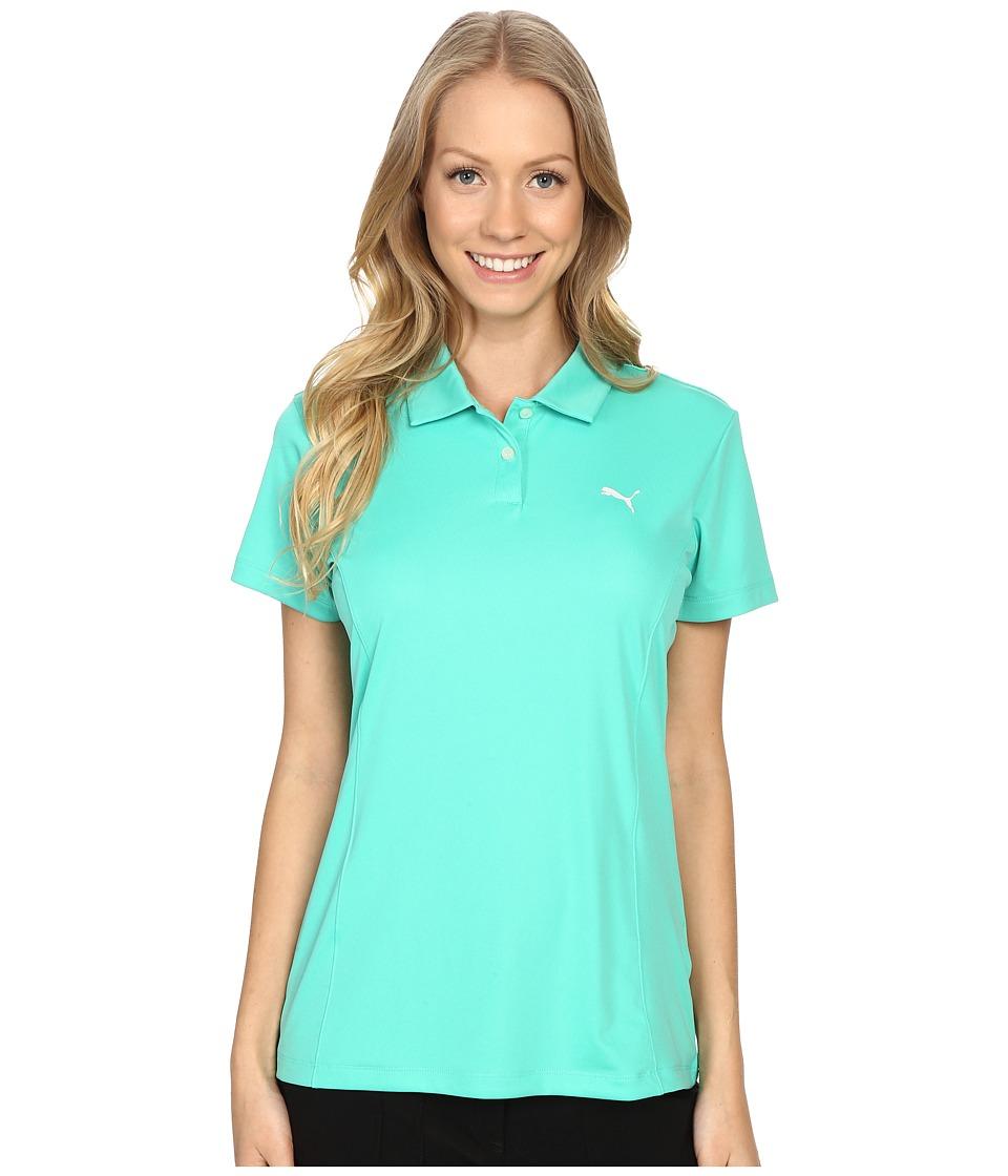 PUMA Golf - Pounce Polo (Mint Leaf) Women's Short Sleeve Pullover