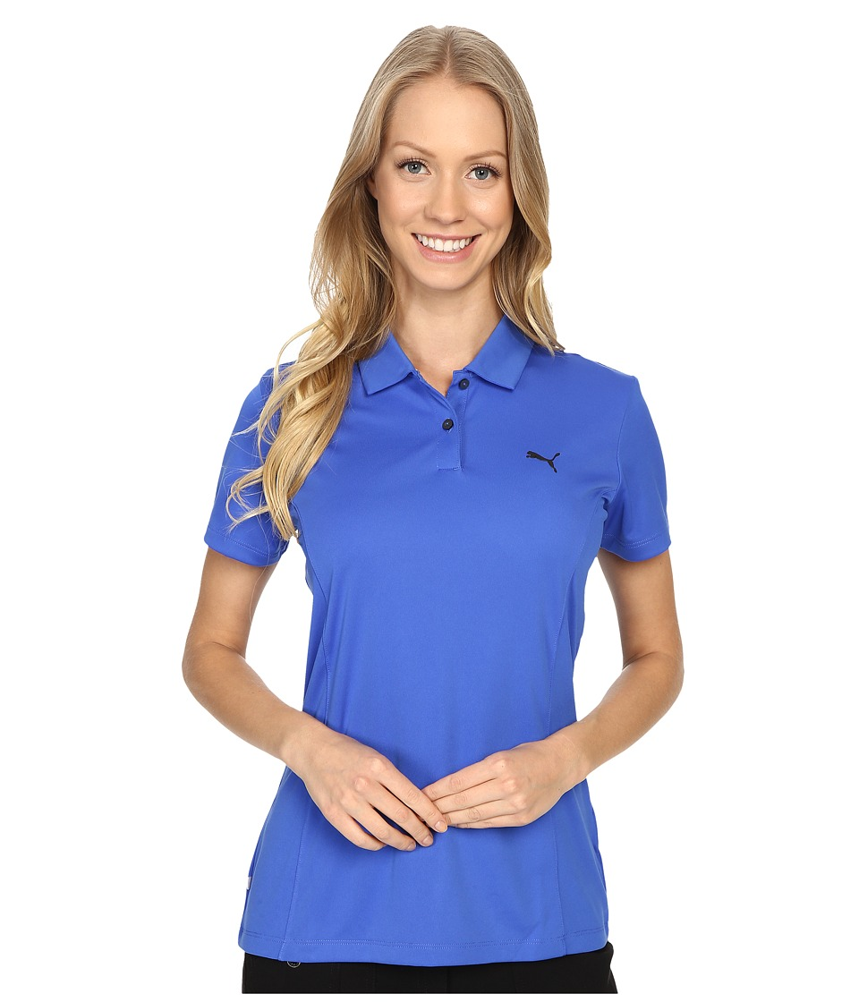 PUMA Golf - Pounce Polo (Dazzling Blue) Women's Short Sleeve Pullover