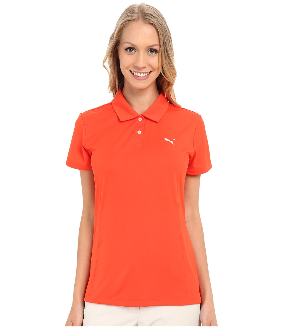 PUMA Golf - Pounce Polo (Cherry Tomato) Women's Short Sleeve Pullover