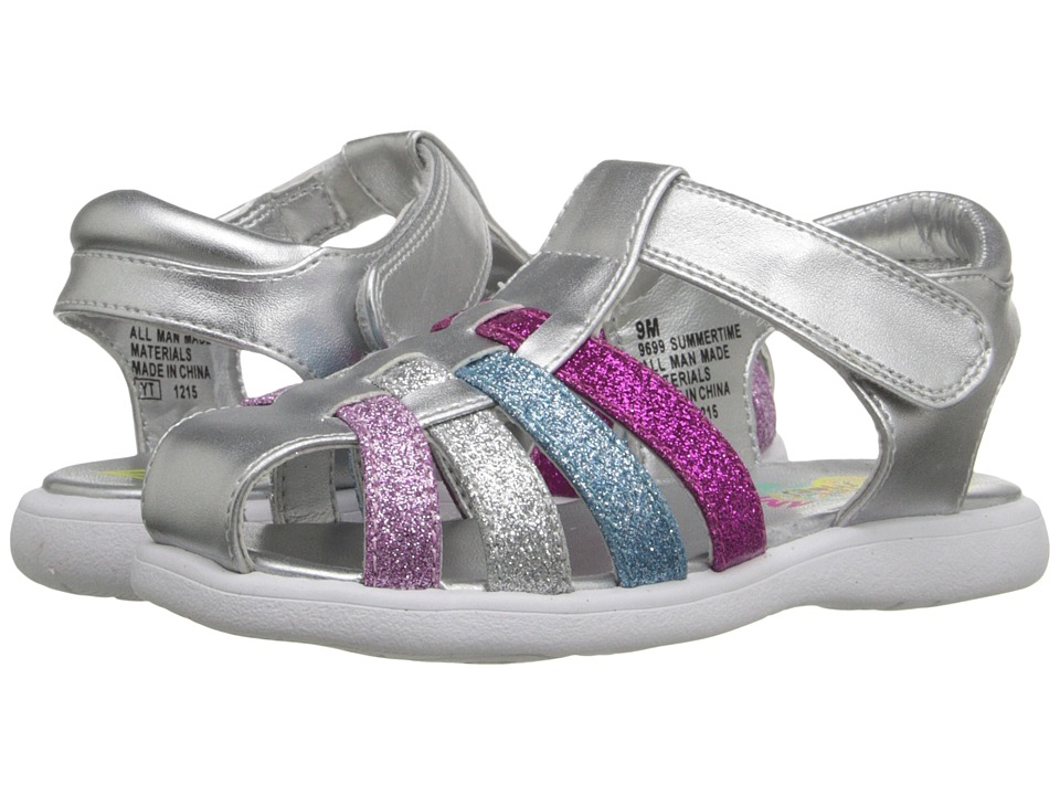 Rachel Kids - Summertime (Toddler) (Silver/Multi Glitter) Girls Shoes