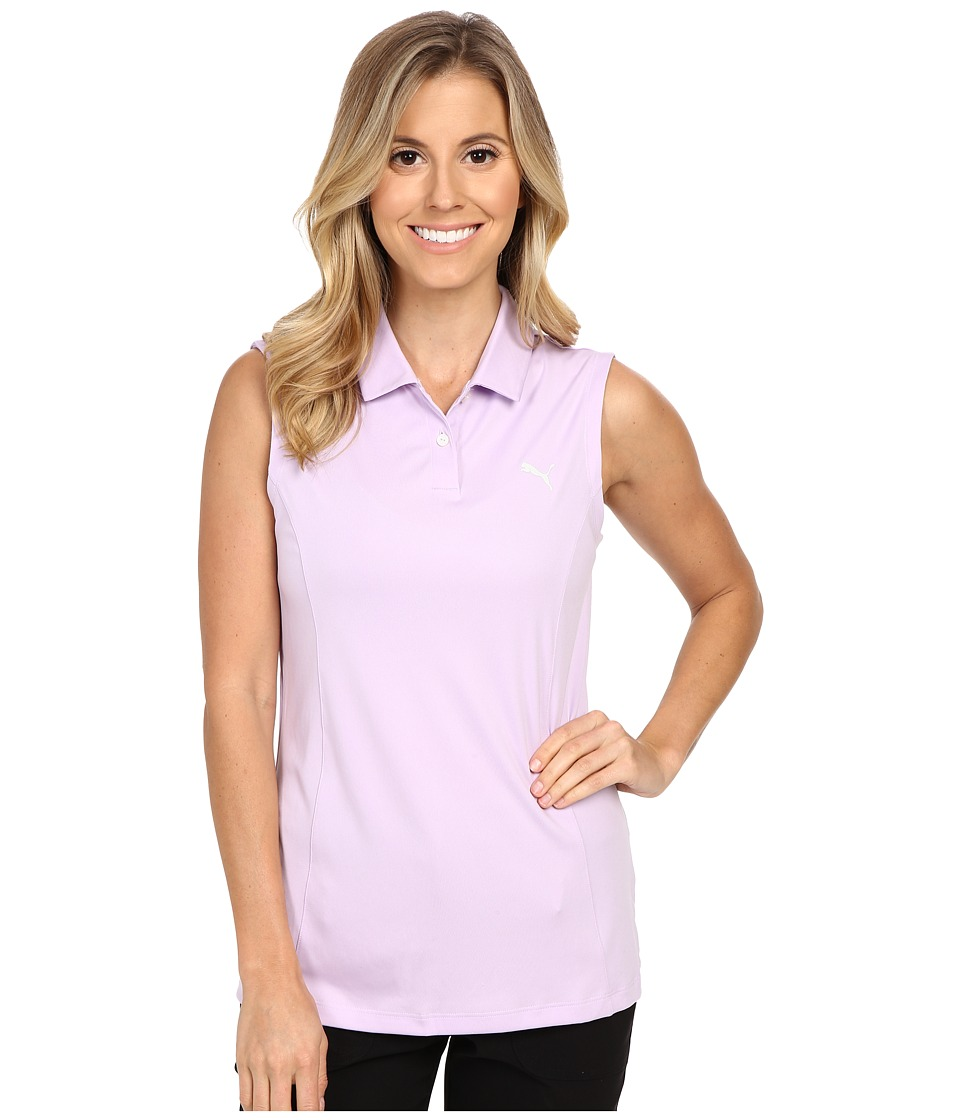 PUMA Golf - Pounce Sleeveless Polo (Orchid Bloom) Women's Sleeveless