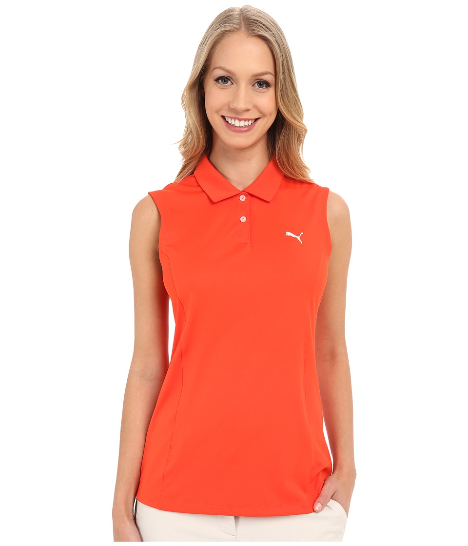 PUMA Golf - Pounce Sleeveless Polo (Cherry Tomato) Women