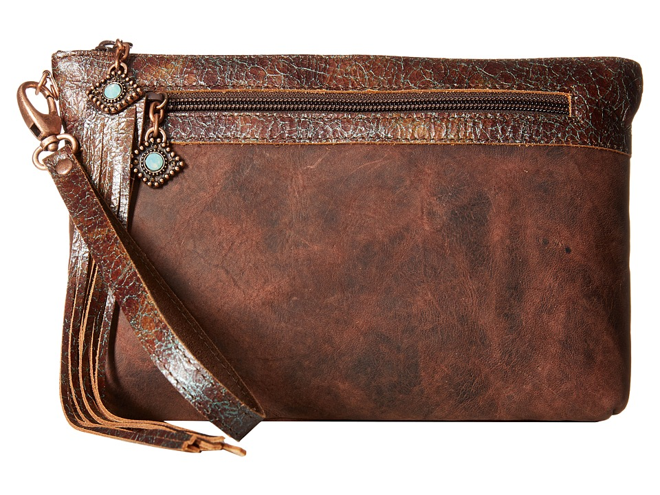 Leatherock - HJ05 (Black Walnut) Clutch Handbags