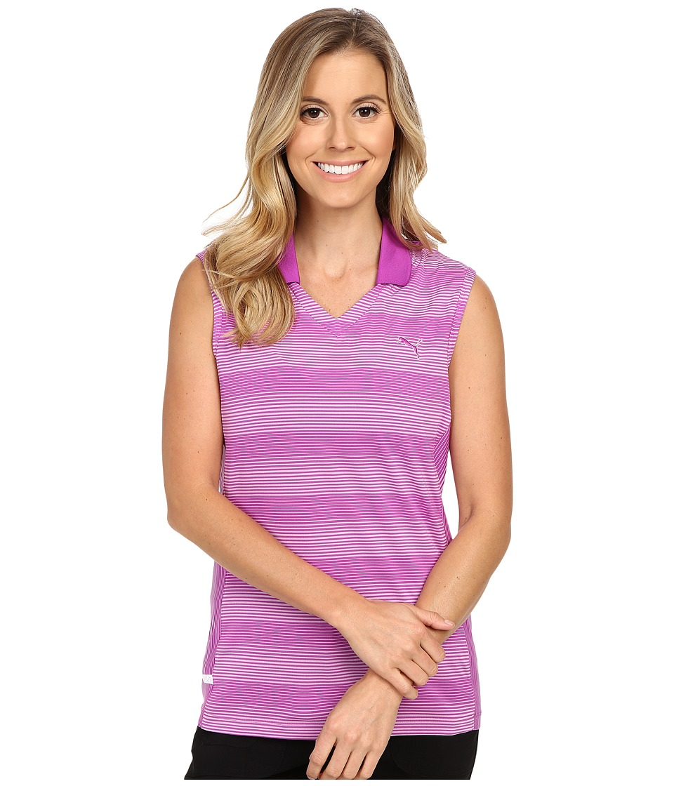 PUMA Golf - Dense Stripe Sleeveless (Purple Cactus Flower) Women's Sleeveless
