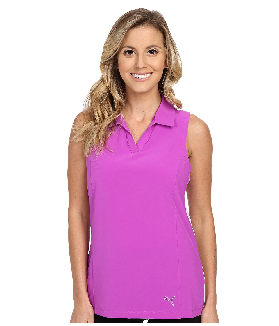 PUMA Golf - Woven Block Sleeveless Polo (Purple Cactus Flower) Women's Sleeveless