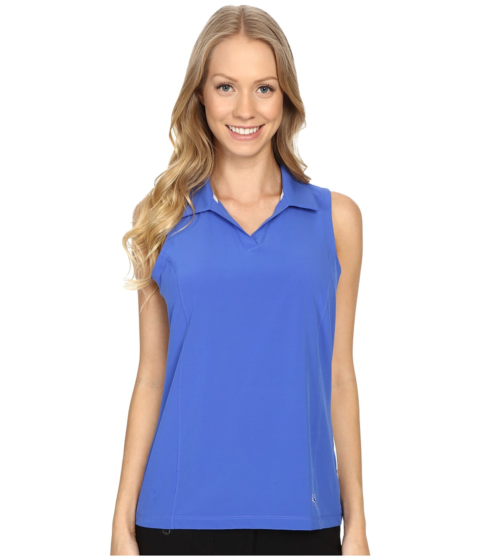 PUMA Golf - Woven Block Sleeveless Polo (Dazzling Blue) Women's Sleeveless