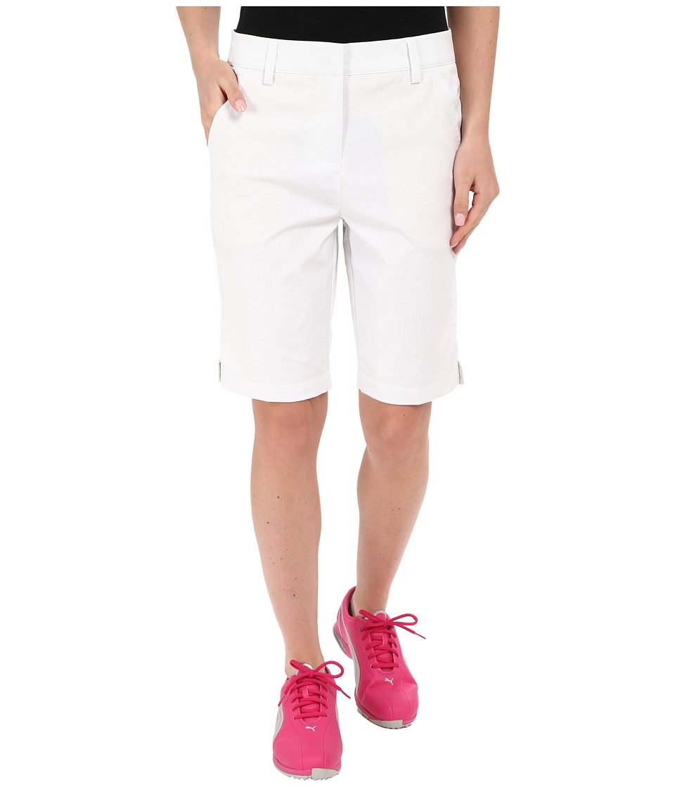 PUMA Golf - Pounce Bermuda (Bright White) Women's Clothing