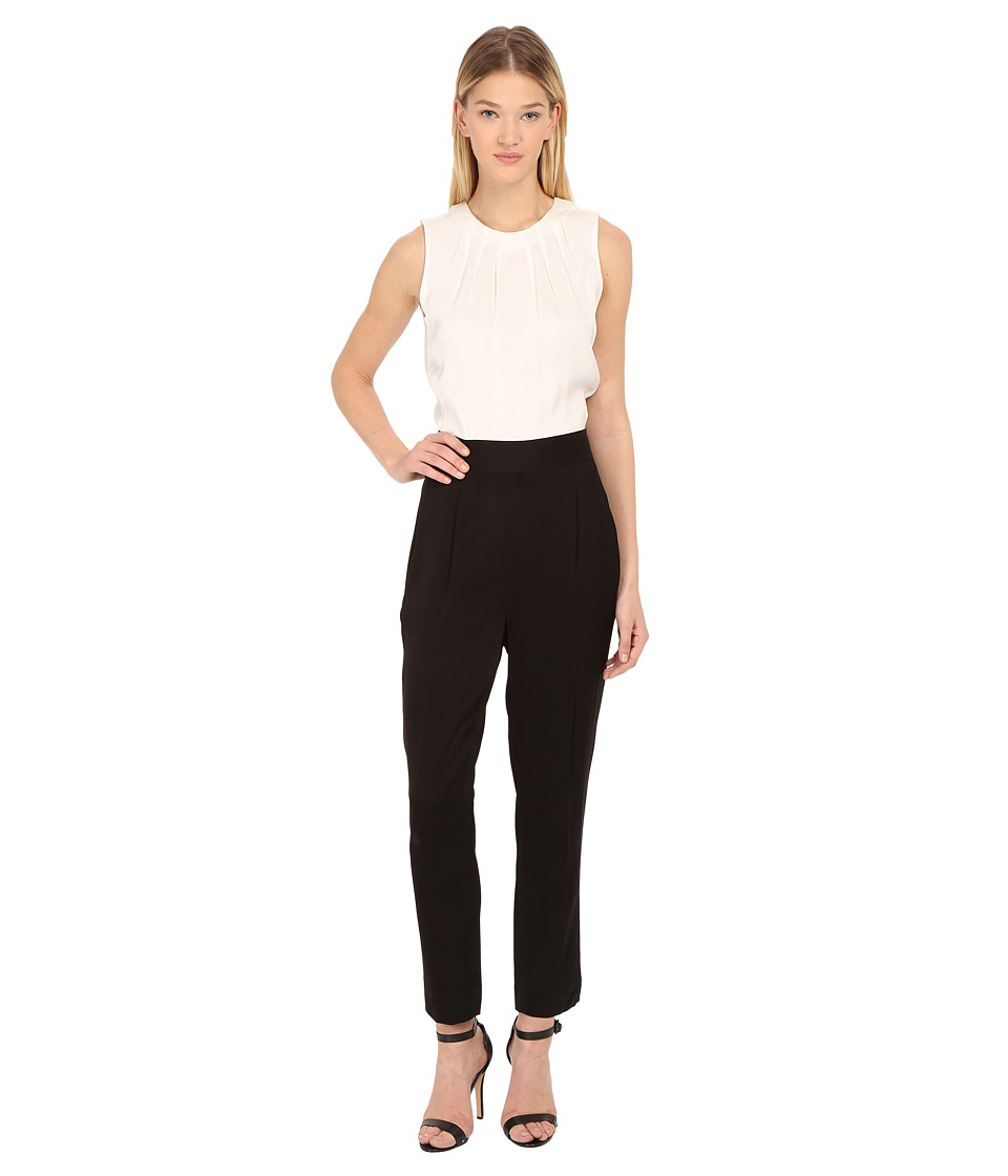 Kate Spade New York - Color Block Jumpsuit (Cream/Black) Women's Jumpsuit & Rompers One Piece