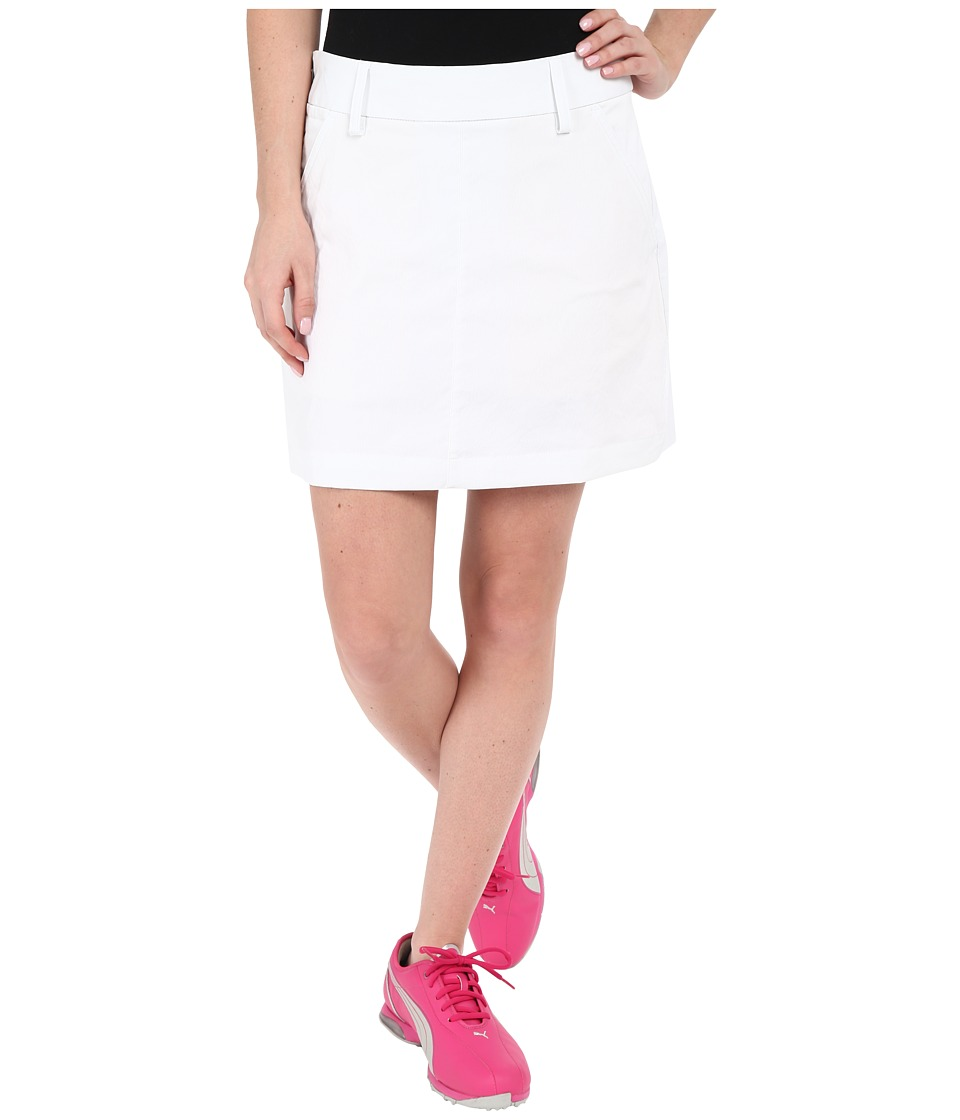 PUMA Golf - Pounce Skirt (Bright White) Women's Skirt