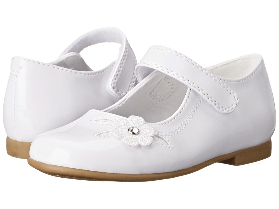 Rachel Kids - Lil Charlene (Toddler) (White Patent) Girls Shoes