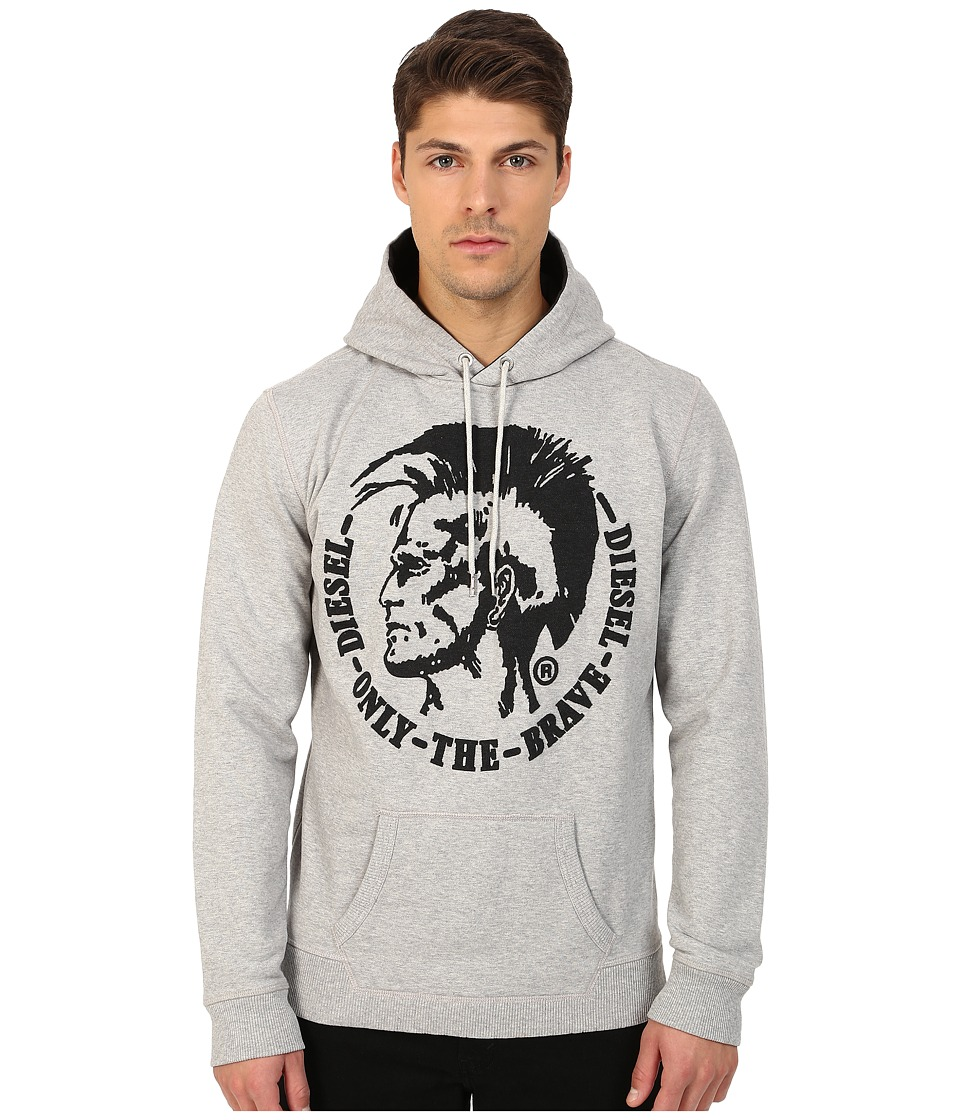 Diesel - S-Agnes-Patch Sweatshirt (Grey) Men's Sweatshirt