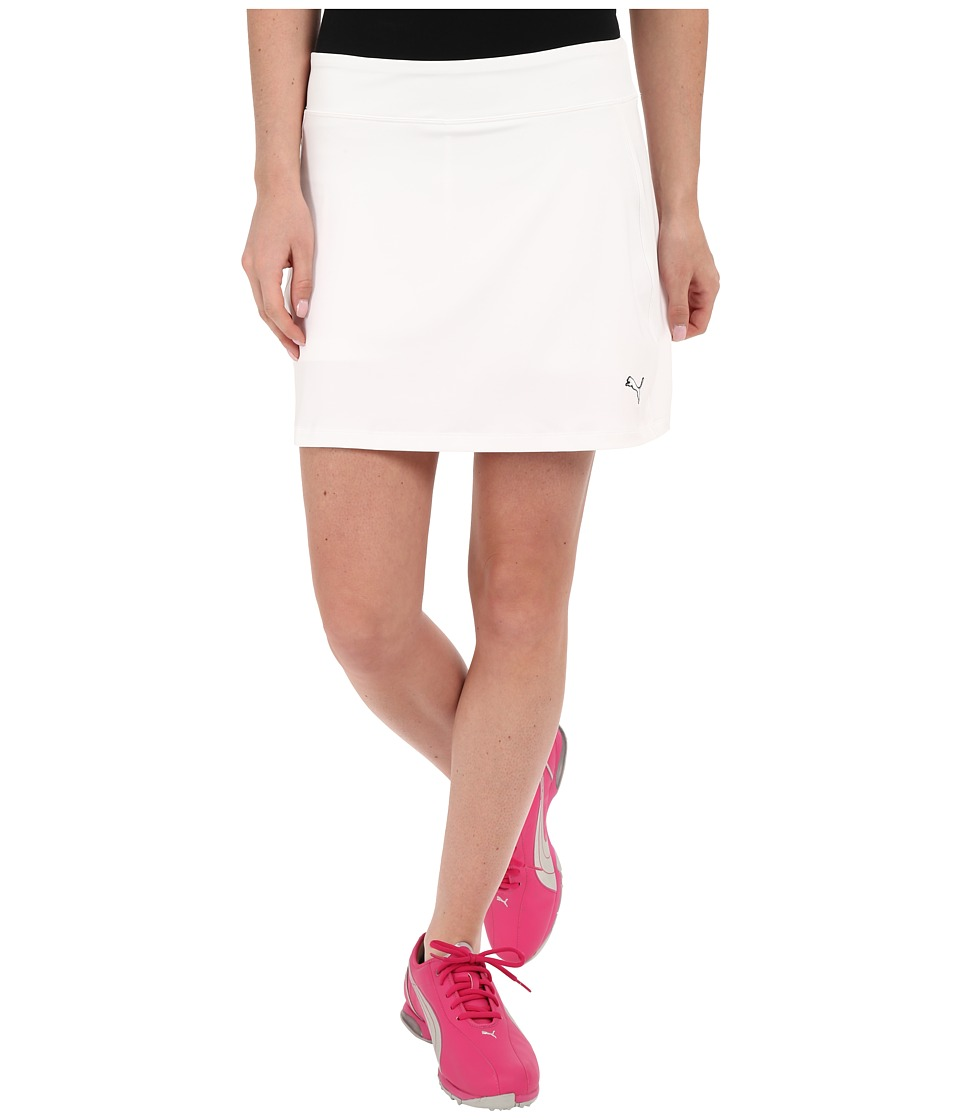 PUMA Golf Solid Knit Skirt (Bright White) Women