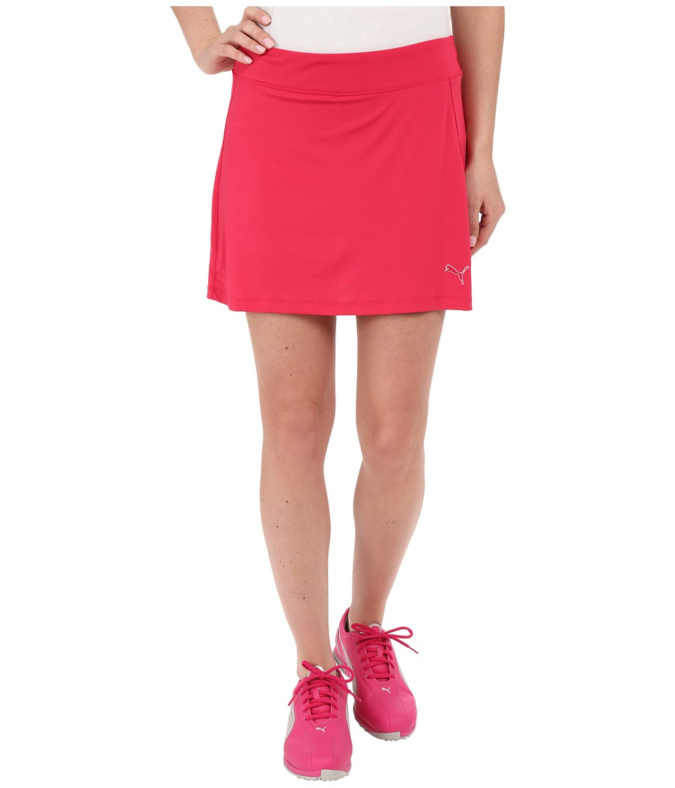 PUMA Golf - Solid Knit Skirt (Rose Red) Women's Skort